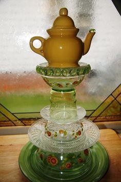 Yellow Sunflower Tea Pot