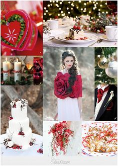 Christmas Wedding Ideas - Christmas wedding-inspiration board