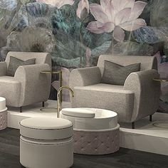 Spa Interior Design, Spa Design, Salon Design, House Design, Spa Pedicure Chairs, Pedicure Spa, Spa Chair, Beauty Salon Decor, Luxury Spa