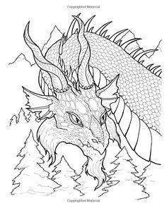 fantastical dragons coloring book tabitha ladin