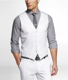 Hey guys, here's an idea! Dress up with a white vest for the gala! #fancy #gala #whitewonderland #whiteoutfit #inspo #festivals #whitevests #whiteinspo #festivaloutfits