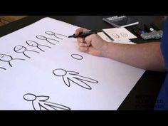 Sådan tegner du mennesker med følelser - Grafisk facilitering - YouTube