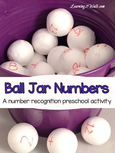 Looking for a fun and creative way to work on number recognition with your preschool aged kids? Try this fun learning game that involves balls.
