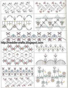 مجموعه رائعه من رسوم التطريز - amazing embroidery patterns ~ شغل ابره NEEDLE CRAFTS