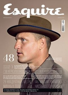 Esquire 2009 Russian magazine - Woody Harrelson on cover. Love the color palette.