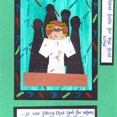 Stations of the cross 3 Holy Week, Bible Crafts, Lessons For Kids, Lent, Catholic, Original Artwork, Pray, Easter, Activities