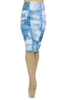 Fusta Dama Jeans Blue  Fusta dama din material usor elastic, ce poate fi purtata cu usurinta.  Imprimeu cool.     Lungime: 67cm  Latime talie: 30cm  Compozitie: 100%Poliester Jeans, Bermuda Shorts, Blue, Women, Fashion, Moda, Fashion Styles, Fashion Illustrations, Denim