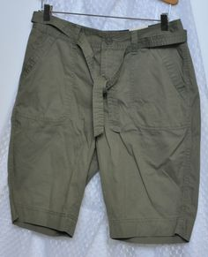 Womens Shorts Size 6 Small S Green Medium M St Johns Bay New Cotton #StJohnsBay #BermudaWalking