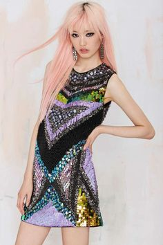 Essentiel Before Midnight Sequin Dress - Essentiel | Essentiel | Dresses | Clothes | All | Going Out | Shift | Clothes | Dresses
