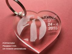 Portachiavi in plexiglass wedding invitations