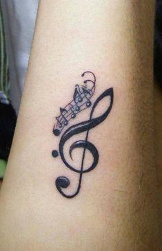 2017 trend Women Tattoo - Music Tattoo Designs: Small music tattoo for women...
