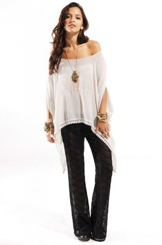 67bb5809 Flare Pants, Bell Bottoms, Off Shoulder Blouse, Silk, Stone, Akira Chicago,  Lemon, Lace, Clothes For Women