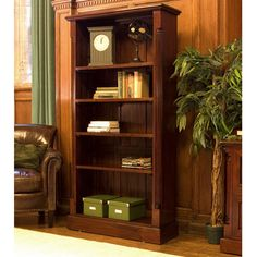 Buy the Tall Open Bookcase - La Roque from Baumhaus today! A part of our Living Room Storage Furniture range. Mahogany Bookcase, Large Bookcase, Open Bookcase, Bookcases, Black Bookcase, Outdoor Dining Furniture, Home Office Furniture, Bedroom Furniture, Furniture Online