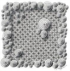 In der dieswöchigen Wochenaufgabe der Diva bezog sich Laura Harms auf einen Newsletter der offiziellen Zentangle-Seite (Hier), in dem kleine Bausteine für auf Gitter basierende Muster in einer Tabe...