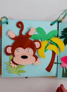 Infant Activities, Book Activities, Summer Activities, Montessori Books, Baby Quiet Book, Tropical Animals, Sensory Book, Quiet Book Patterns, Felt Quiet Books