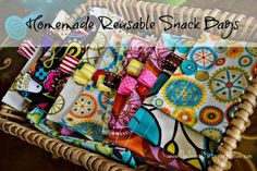 Easy Homemade Reusable Snack Bags
