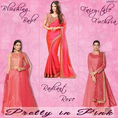 Plain Pink Passion!  Pink – the epitome of the feminine beauty and grace – is one color that looks beautiful every way. A plain, pink blank canvas has a surreal charm – that doesn't need any ostentation or embellishment – it's super pretty any way. This summer court this ethereal hue – in all its myriad shades and tints, as you dress up in trendiest lehengas, sarees and salwar suits.