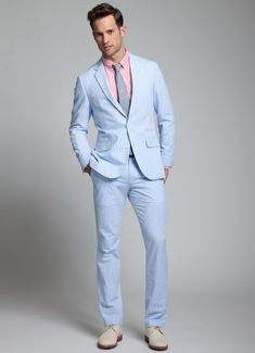 mixed matched chambray blue suits - Google Search