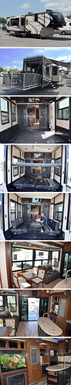 "2015 Grand Design MOMENTUM 380TH Fifth Wheel Toy Hauler. ""THE MOMENTUM RV IS THE PLACE TO LIVE WELL AND PLAY HARD!"""