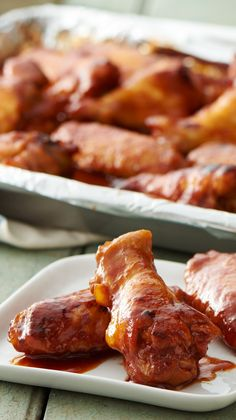 The addition of root beer in these slow-cooker sticky chicken wings is a nice twist on a traditional barbecue sauce.