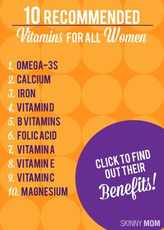 10Vitamins for all women from Skinny Mom Good Vitamins For Women, All Vitamins, Vitamins And Minerals, Health Facts, Health And Nutrition, Health And Wellness, Health Fitness, Women's Health, Muscle Fitness