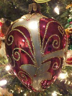 Waterford Holiday Heirlooms Crimson Damask Egg Christmas Ornament LMT Ed | eBay