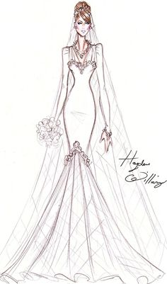 Hayden Williams Fashion Illustrations | Hayden Williams For Princess Kate.