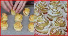 Trandafiri cu mere din aluat foietaj. Aceste delicii vor înfrumuseța masa de sărbătoare și vor fi pe placul tuturor. - Bucatarul Doughnut, Muffin, Food And Drink, Breakfast, Desserts, Cakes, Impressionism, Pastries, Salads