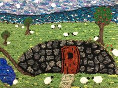 Items similar to Relaxing by the Root Cellar: Rug Hooked Wall Art on Etsy Root Cellar, Newfoundland, Rug Hooking, Stepping Stones, Roots, City Photo, Relax, Wall Art, Outdoor Decor