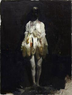 Nicola Samorí. Acquario, 2013. Oil on linen. Guarigione...