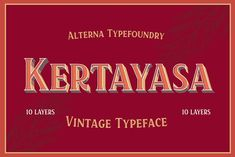 Kertayasa Layered Typeface 20% INTRO by Alterna Typefoundry on @creativemarket