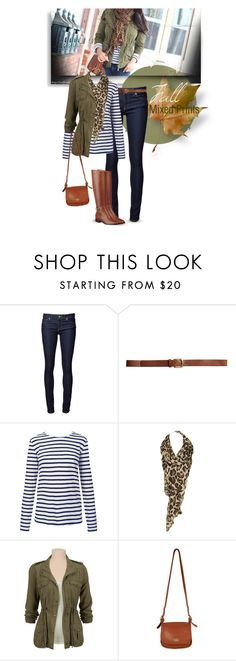 """""""Mixed Prints: leopard & stripes"""" by steffiestaffie ❤ liked on Polyvore featuring Naked & Famous, H&M, T By Alexander Wang, Gathering Eye and Nine West"""