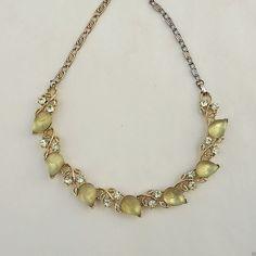 Vintage Lisner glass lemons necklace. I LOVE IT.