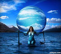Water - Nammu, Primeval Goddess of the Sea - created by musicj19
