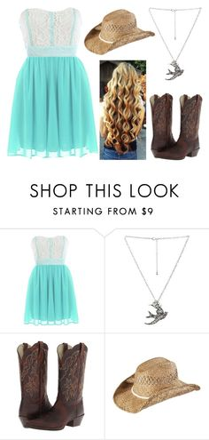"""""""Country Wedding Guest"""" by jwpixie ❤ liked on Polyvore featuring Wet Seal, Ariat, KENNY and country"""