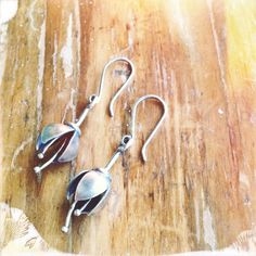 Contemporary Crocus Earrings in sterling silver by The Rare Bird