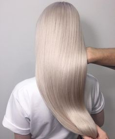 Long icy white blonde hair