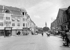 Fő utca az Erzsébet térnél.
