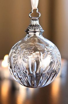 Crystal Ornament.... I use a lot of crystal ornaments on my tree.... they just make everything sparkle more & reflect more light