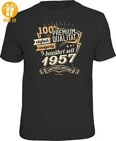 Original RAHMENLOS® Geschenk T-Shirt zum 60. Geburtstag: Premium Qualität seit 1957 - Größe XL - T-Shirts mit Spruch | Lustige und coole T-Shirts | Funny T-Shirts (*Partner-Link)