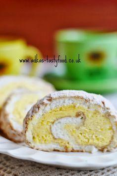.. chute a vône mojej kuchyne...: Bielkova rolada s citronovou plnkou