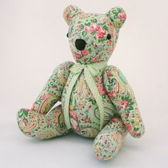 Bubs Bear made from vintage eiderdown Looks like Zac's Bear from Uncle Jeff & Auntie Sarah