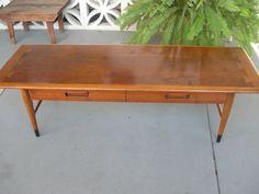 Mid Century Modern Bassett round walnut coffee table by GreStuff