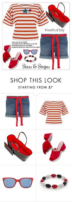"""""""Celebrate the 4th!"""" by shoaleh-nia ❤ liked on Polyvore featuring Sonia Rykiel, Theory, Christian Louboutin, Steve Madden, Polo Ralph Lauren and Kim Rogers"""