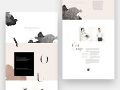 Layout research for Jean Dousset, jewelry designer in LA Web Design Trends, Blog Design, Page Design, Design Basics, Design Ideas, Website Design Inspiration, Layout Inspiration, Daily Inspiration, Website Layout