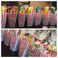 Christmas gifts candy Theatre to Go DIY Christmas Baskets for Teens Diy Christmas Baskets, Homemade Christmas Gifts, Homemade Gifts, Cute Gifts, Diy Gifts, Holiday Gifts, Christmas Crafts, Coworker Christmas Gifts, Party Gifts
