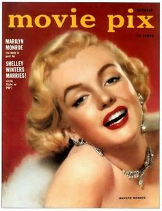 Marilyn Monroe on the cover of Movie Pix magazine, October 1952, USA. Cover photo of Marilyn in publicity for Let's Make It Legal, 1951.