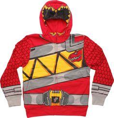 Power Rangers Dino Charge Red Suit Juvenile Hoodie #blackfriday #blackfridaysale
