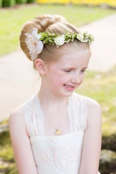 Flower girl dress and flower crown