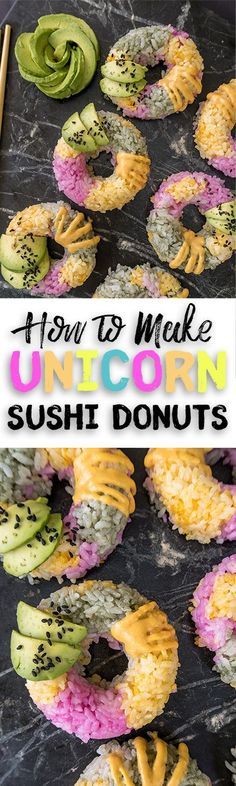 how to make unicorn sushi donuts recipe video